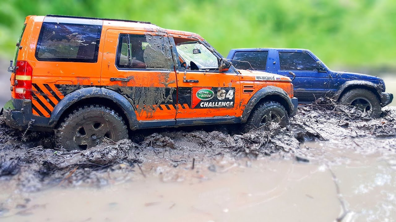 RC Cars Stuck In The MUD — Land Rover Discovery MST CFX, Mitsubishi Pajero Tamiya CC 01 — Vol 1