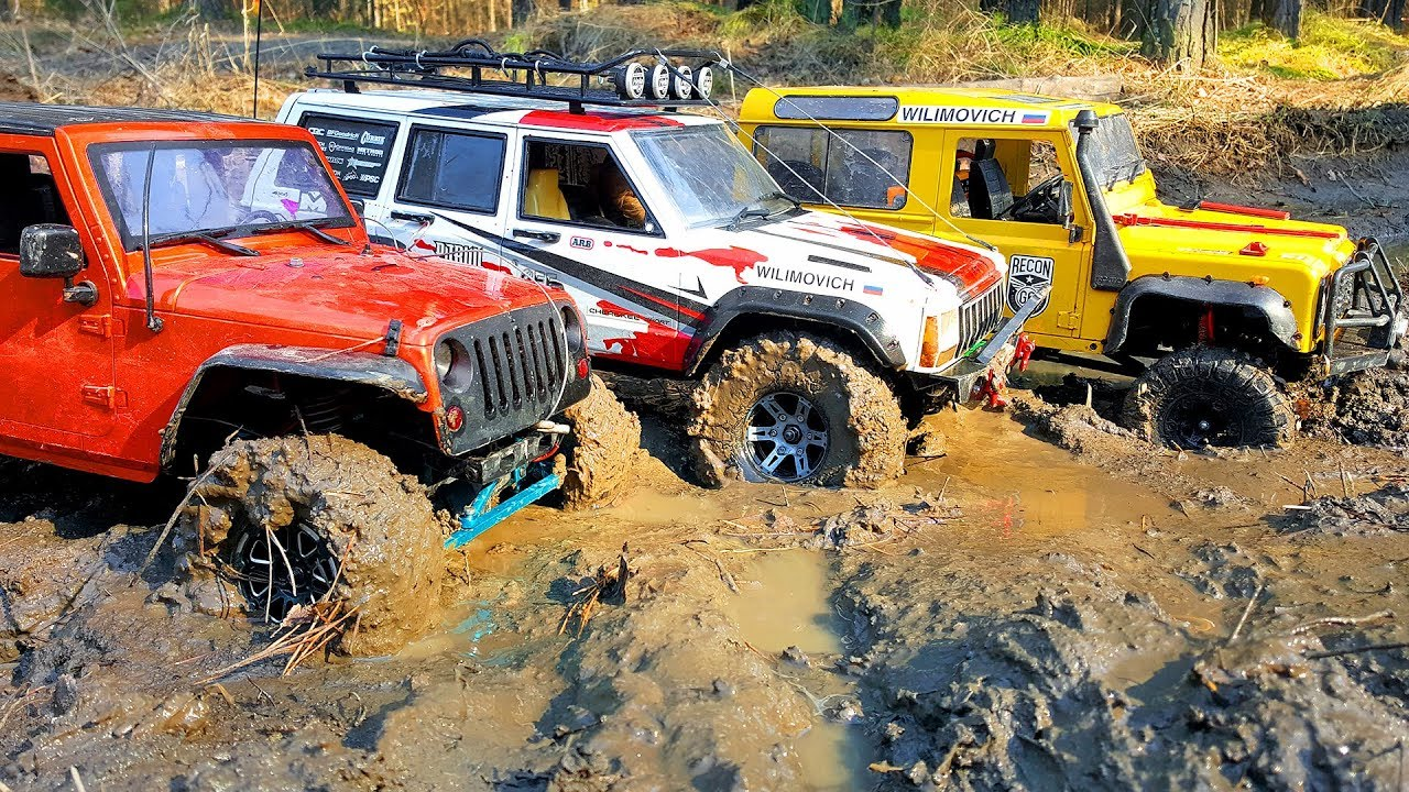 RC Cars Impassable MUD — Land Rover and Jeep — RC Extreme Pictures