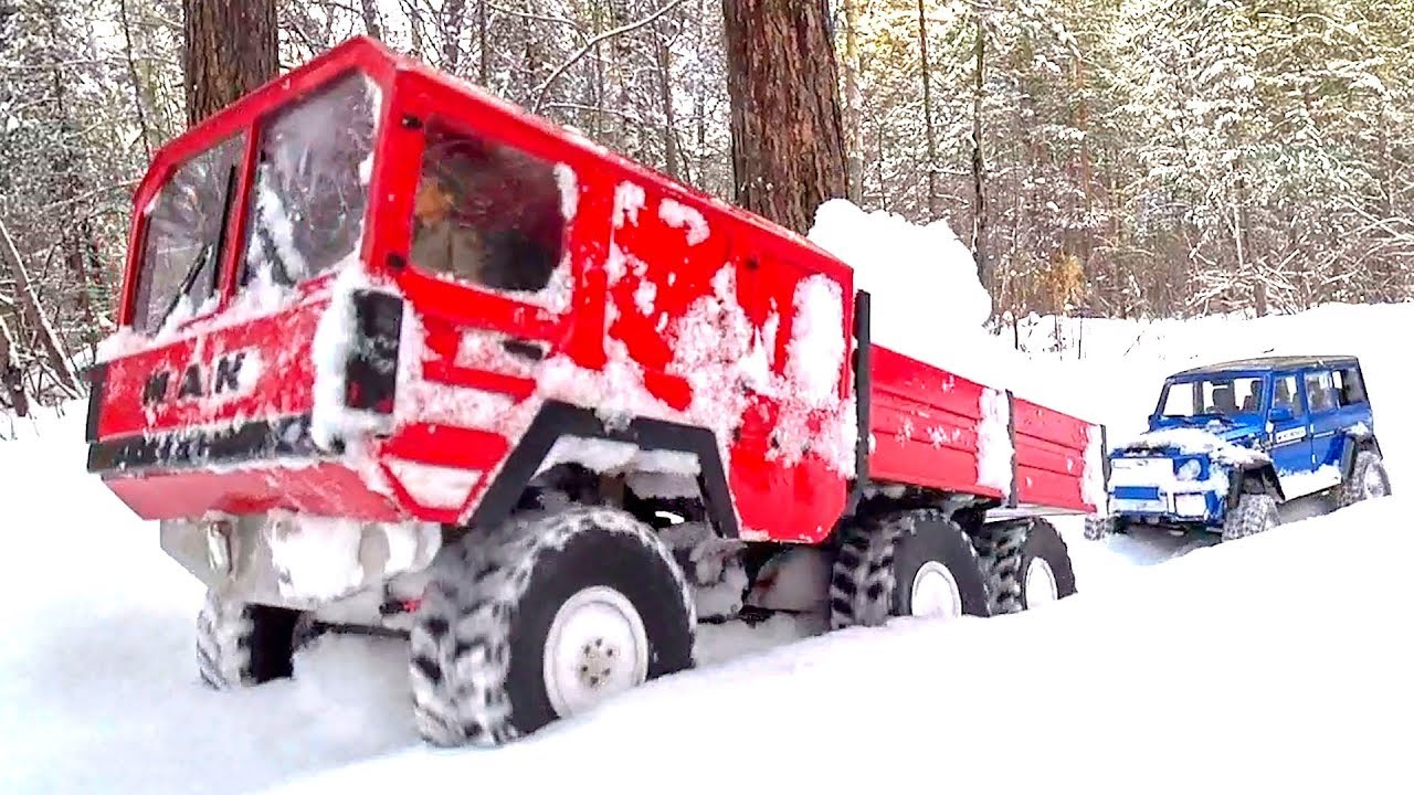 Heavy RC Truck 6x6 MAN KAT Make Our Way In The Deep Snow — Wilimovich