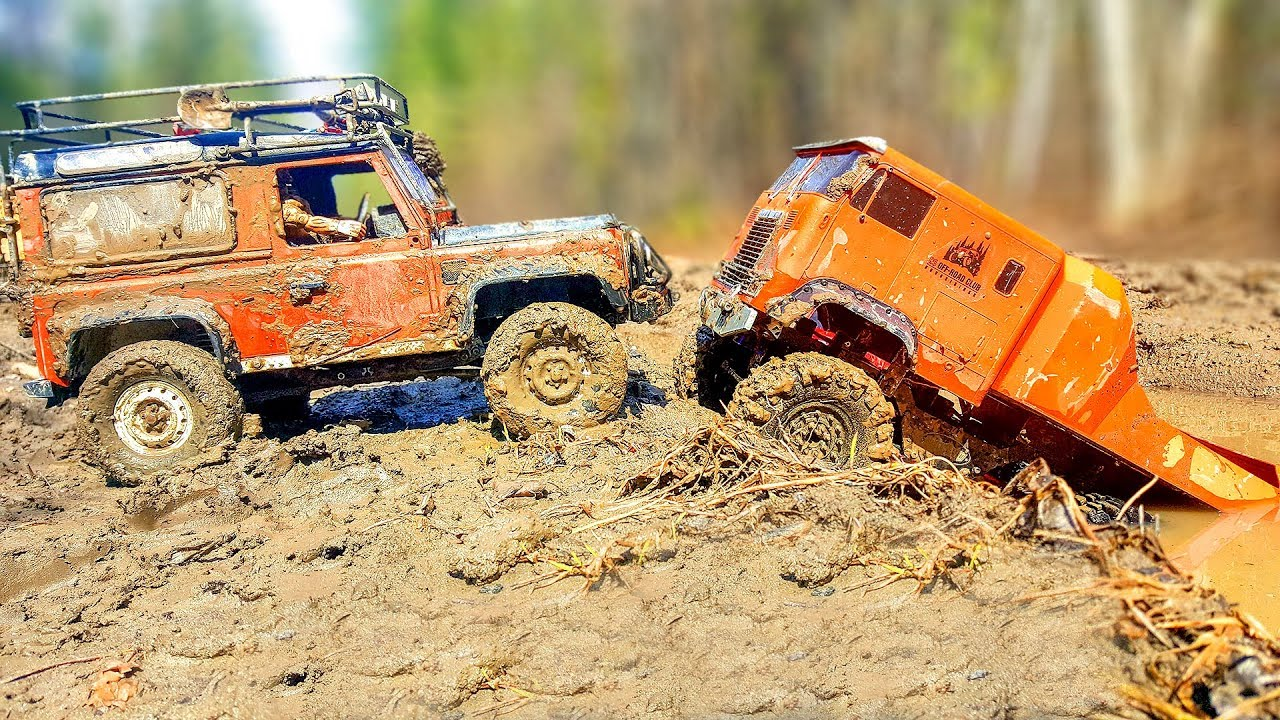 RC Cars MUD Racing Trucks 6x6 Get Out Stuck 4x4 Jeep, Land Rover Axial SCX10 - Wilimovich