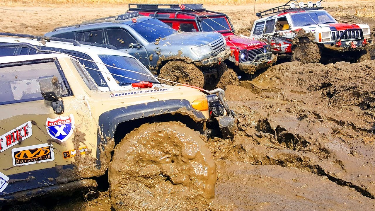 RC Cars Extreme MUD Test – Which, Which, Which – Traxxas TRX4, Axial SCX10 II Jeep — Wilimovich