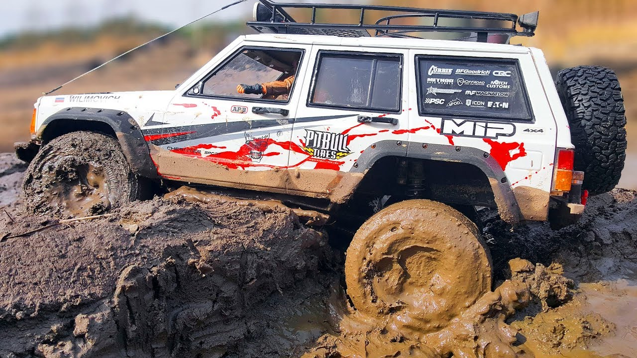 RC Cars MUD and Sand Bashing Jeep Cherokee - Axial SCX10 ii - Wilimovich