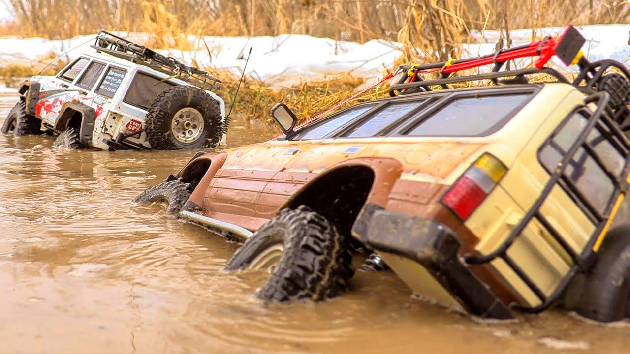 Drown ALL RC Cars OFF Road in Puddles and MUD – Land Cruiser 80, Hummer H1, Jeep, Land Rover