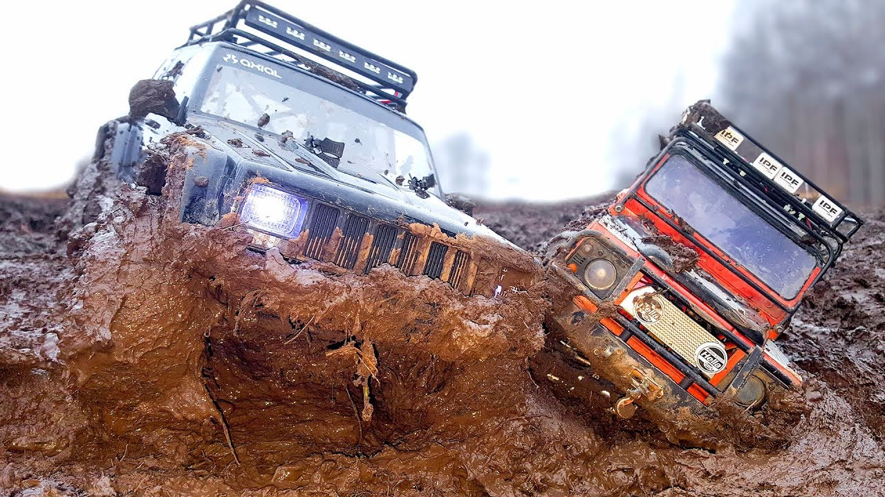 Extreme Mud OFF Road RC Trucks Traxxas TRX4 and Axial SCX10 — RC Extreme Pictures