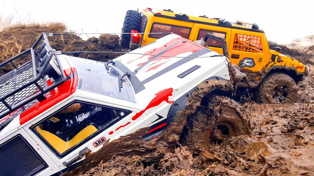 RC Trucks MUD OFF Road — Jeep Cherokee, Hummer H2, Toyota Land Cruiser   Axial SCX10