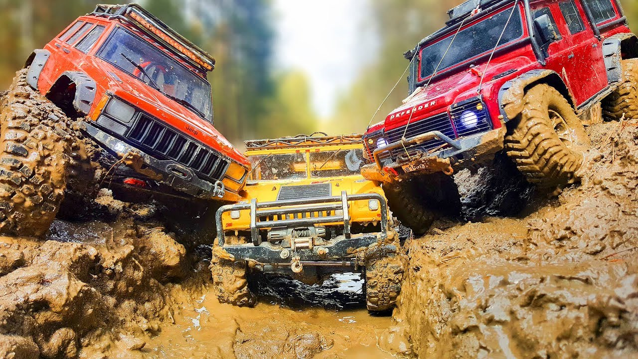 Frozen MUD OFF Road RC Cars Hummer H1, Jeep Cherokee Axial SCX10 ii, Land Rover Traxxas TRX4